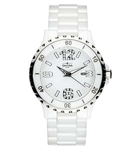 Davosa Damen-Armbanduhr Analog Keramik weiss 16843914
