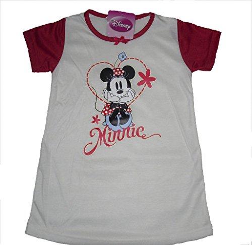 Disney Mädchen Schlafanzug Mehrfarbig Rot/Weiß 122