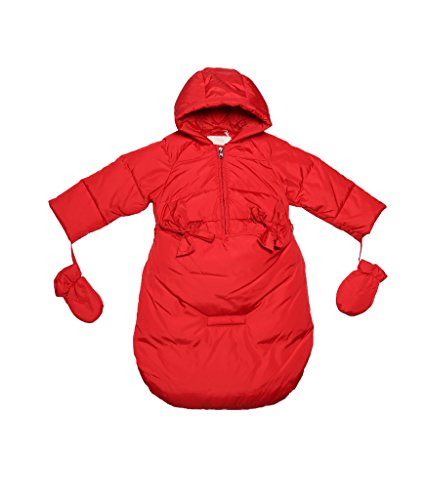 Oceankids Baby Girls Newborn Pram Down Bunting Snowsuit Detachable Bottom Red 12M 9-12 Months