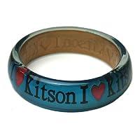 KITSON キットソン クリアバングル KB0032 アクセサリー ブルー ロゴ入り 並行輸入品   ウェア&シューズ