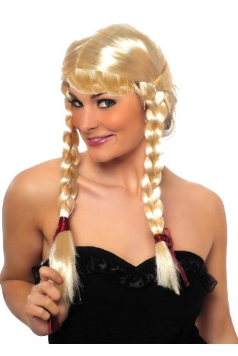 Blonde Pigtails Naughty St Trinians Schoolgirls Britney Spears Style Wig Fancy Dress