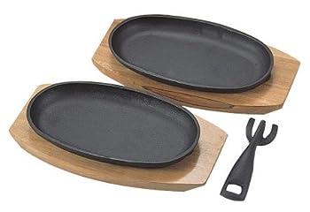パール金属  スプラウト 鉄鋳物製 ステーキ 皿 2枚組 H-7529