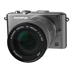 "Olympus V205034SE000 - Cámara EVIL de 12.3 Mp (pantalla de 3"") plateado [importado]"