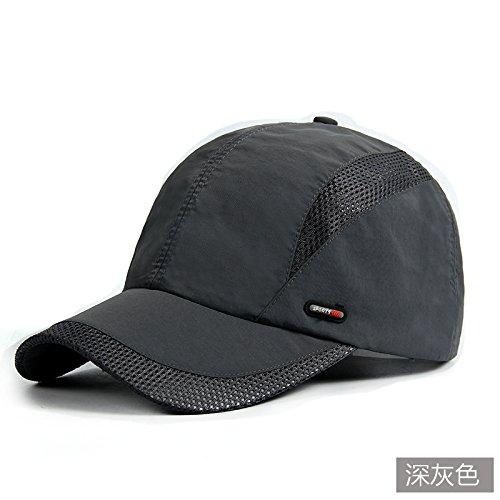 YangR*L'inverno hat uomini cappuccio visiera esterna sunscreen cappelli cappello da baseball maschio ad asciugatura rapida cappuccio traspirante , Campagna di carbonio