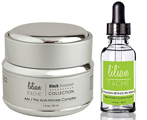 Face Cream - Anti Wrinkle Complex - Skin Care For Am/Pm - Black Diamond Dust Infused - Beauty Skin Care Product - Skin Rejuvenation - Wrinkle And Fine Line Prevention - Collagen Restoring - Plus Deep Wrinkle Correction Collagen Retinol Ip-6 Serum - Lilian