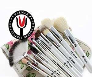 Yalmeh Professional Makeup Brush Set| Pro Cosmetic 12-Piece, Makeup Brush Set With Case| Makeup Brush Set| Eye Makeup Brush Set| Synthetic Makeup Brush Set| Yalmeh Professional Makeup Brush Set Could Be The Last Makeup pro Brush Set You Ever Need! Travel Makeup Brushes Set. Different Experience With Yalmeh, Best Makeup Brush Set| Face Makeup Brush Set| Promotion Price To Be Increased Soon! 100% Money Back Guarantee!