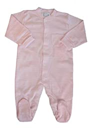 Kissy Kissy Baby Stripes Striped Footie-White With Pink-12-18 Months