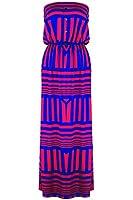 G2 Chic Women's Classic Sleeveless Elastic Waist Maxi Dress