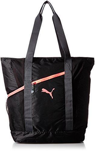 PUMA borsa Fitness Fit AT, Nero/Periscope/pesca fluo, OSFA, 073806 01