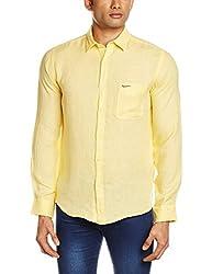 Pepe Jeans Men's Casual Shirt (8903872741564_BARON LS_XL_SUM-YELO)