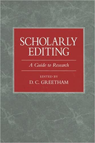 Scholarly Editing: A Guide to Research