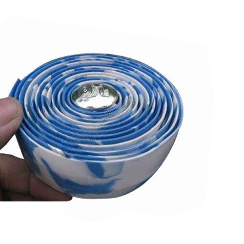 Road Bike Handlebar Tape Wrap White And Blue