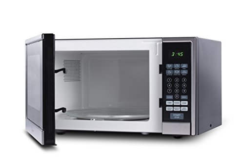 Westinghouse WCM11100SS 1000 Watt Counter Top Microwave Oven, 1.1 Cubic Feet, Stainless Steel Front, Black Cabinet (Microwave Oven Small Stainless compare prices)