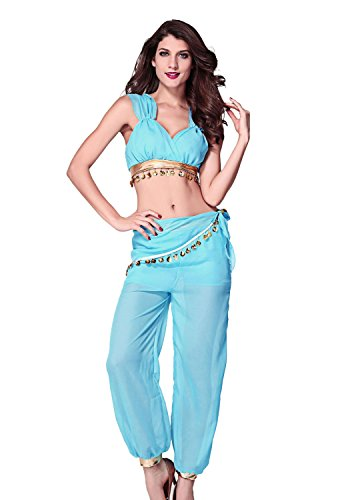 Darlinglove Women'S Cyber Monday Black Friday Two Pieces Genie Adult Costume