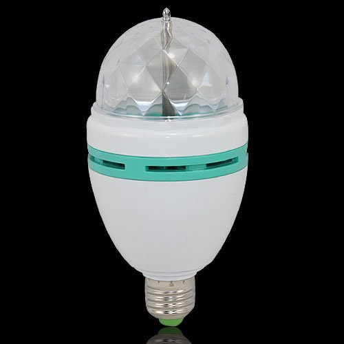 E27 3W Rgb Auto Rotating Sound Activated Led Stage Party Dance Light Bulb Lamp