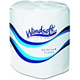 Windsoft Facial Quality Toilet Tissue, 2-Ply, Single Roll (Case of 24 Rolls)
