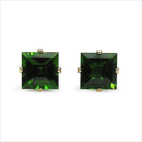 Jewelry-Schmidt-Earrings / chrome diopside earrings rhodium plated 925 silver