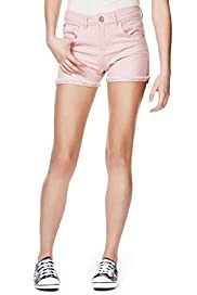Angel Cotton Rich Turn Up Hem Denim Shorts