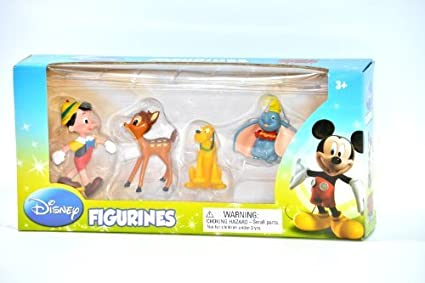 Disney 4 Figurines by Beverly Hills Teddy Bear Company (English Manual)