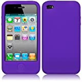 iPhone 4 / iPhone 4G Soft Silicone Skin Case - Purpleby Qubits