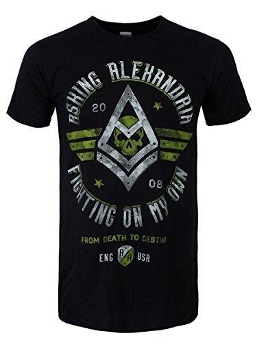 Asking Alexandria -  T-shirt - Stampa  - Maniche corte  - Uomo nero Large