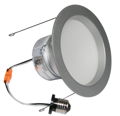 American Lighting Ep6-E26-30-Bs Samsung Led E-Pro Series Recessed Downlight, Dimmable, 9.7-Watts, 745 Lumens, 3000K White, 6-Inch, Brushed Steel front-497146