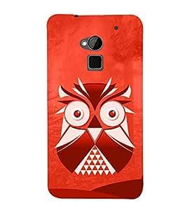 Cute Ullu Owl 3D Hard Polycarbonate Designer Back Case Cover for HTC One Max