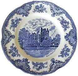 "Johnson Brothers Old Britain Castles Blue Plates 10"" (Set of 6)"