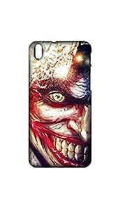 Half Face Of Joker Aim Art Case For Htc 816