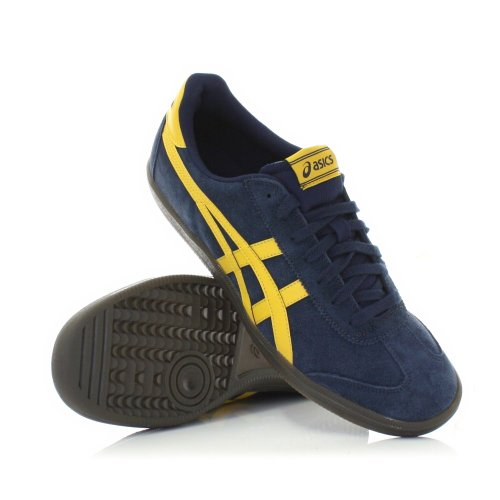 best website a0e60 5f479 Mens Shoes Asics Tokuten Blue Yellow Suede Trainer SIZE 11 ...