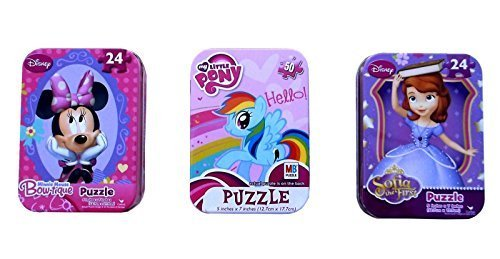 Puzzle Tins for Girls Set of 3