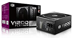 Cooler Master V1200 - Fully Modular 1200W 80 PLUS Platinum PSU with Silent Fanless Mode Operation (6th Generation Skylake Compatible)
