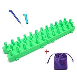 Métier à Tisser En plastique Bracelet Artisanat Bands Loom Outil Crochet + Une Petite Housse LUXEOS