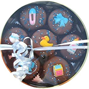 Chocolate Dipped Oreo Cookies decorated for a Boy Baby Shower 7 Oreo Assortment