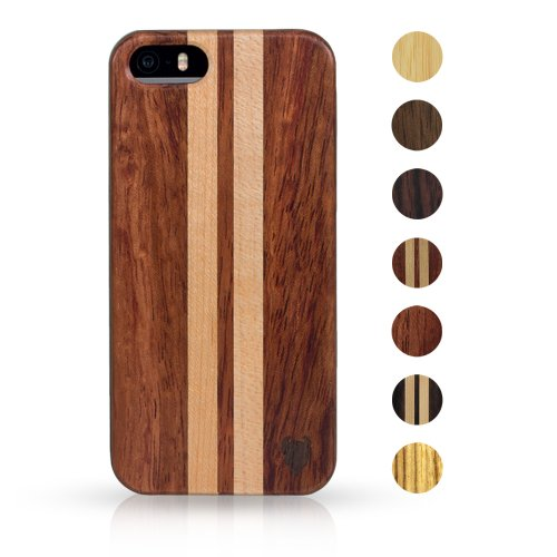 Best Price MediaDevil Artisancase Apple iPhone 5 / iPhone 5S wood case (Rosewood with Maple stripes)