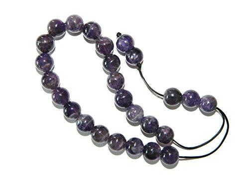 A2-0132 - Greek Style Loose Strung Prayer Beads 10mm Brazilian Amethyst Gemstone Beads Handmade by Jeannieparnell