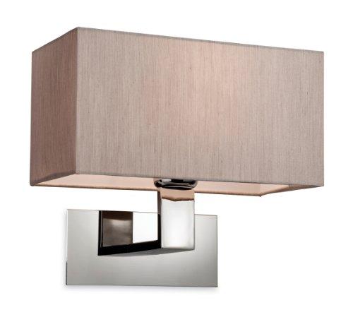 firstlight-lampara-de-pared-de-acero-inoxidable-e27-40-w-color-marron-y-cromado