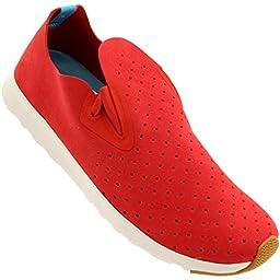 Native Shoes Unisex Apollo Moc Torch Red/Shell White Sneaker Men\'s 4, Women\'s 6 Medium