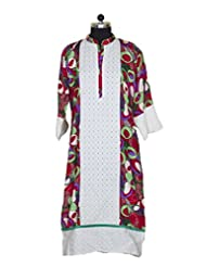 Visaga Women's Cotton Straight Kurti With Chiken Work - B00UMWEPPM