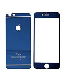 Totu Premium Front+Back Tempered Glass For Apple iPhone 4/4S - Blue