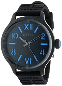 Versus by Versace Men's 3C70500000 City Black Ion-Plated Stainless Steel Watch