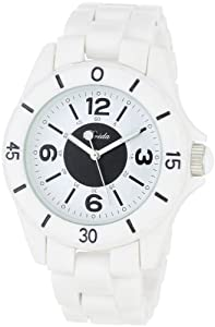"Breda Women's 1617-white ""Aimee"" Trendy Tachymeter Plastic Watch"