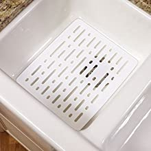 Rubbermaid Evolution Sink Mat, Small, White