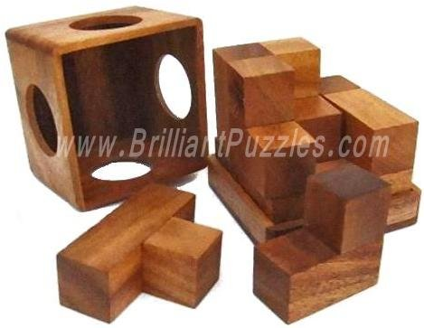 Picture of Fun Soma Cube (Large) - Brain Teaser Wooden Puzzle (B002P8X3GS) (Brain Teasers)