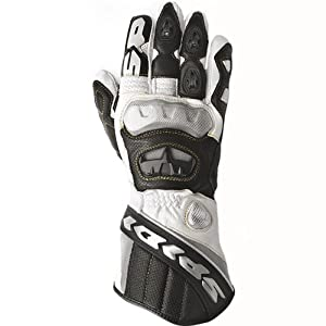 Spidi Race Vent Mens White Leather Gloves