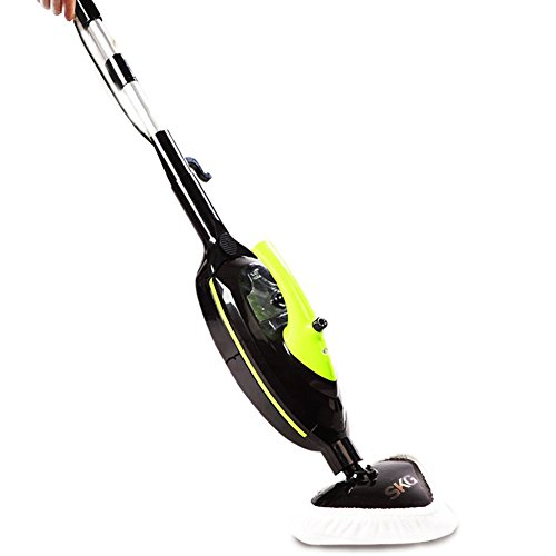 SKG 1500W Powerful Non-Chemical 212F Hot Steam Mop - Carpet and Floor Cleaning Machine (6-in-1 Accessories & 3 Microfiber Pads Included)