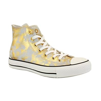 Buy Converse All Star Hi Gold White Trainers by Converse