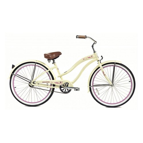 Micargi Rover LX Beach Cruiser Bike, Vanilla, 26-Inch