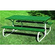 Leisure Time Injection-Molded Picnic Table - 72in., Hunter Green, Model# 25065