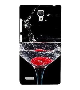 PrintVisa Sparkling Water Glass Design 3D Hard Polycarbonate Designer Back Case Cover for Xiaomi Redmi Note Prime